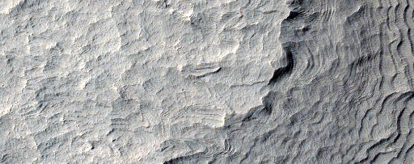 Stair-Stepped Slope Seen in MOC Image R08-00823