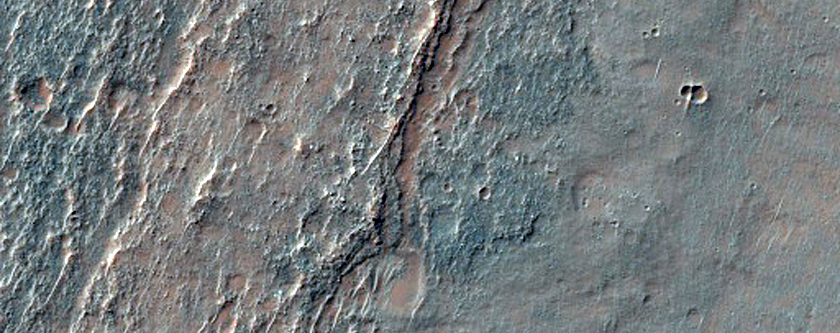 Thermally-Distinct Ridges Seen in THEMIS Images I09390002 and V24116005