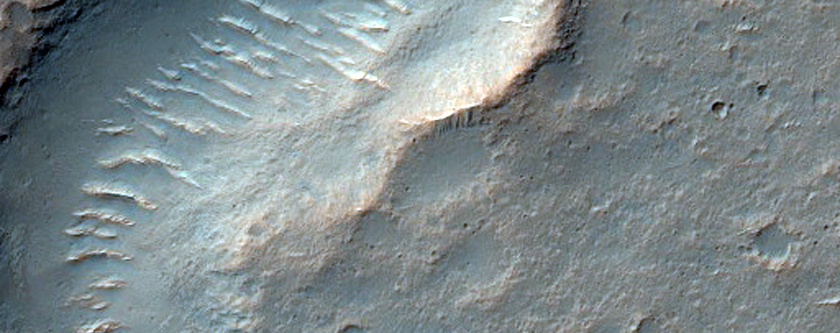 Narrow Crack or Channel in Hesperia Planum