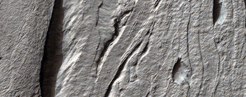 Complex Banded Flow Terrain on Hellas Basin Floor