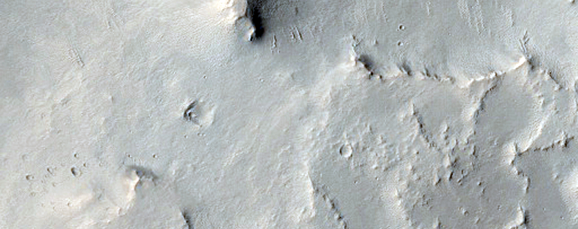 Northeast Extent of Scamander Vallis System West of MOC Image S06-01391