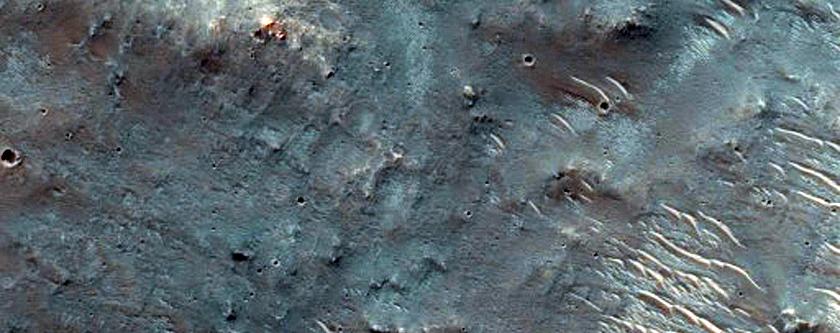 Area North of Herschel Crater