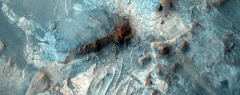 Megabreccia in Toro Crater