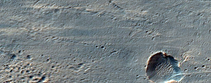 String of Craters Downrange of Ada Crater