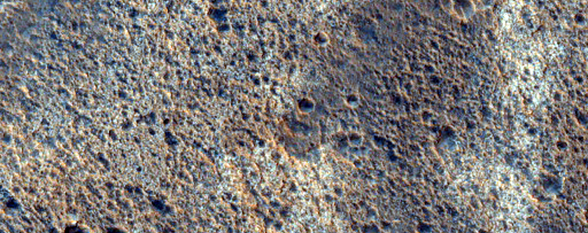 Light-Toned Mesa Material East of Wahoo Crater