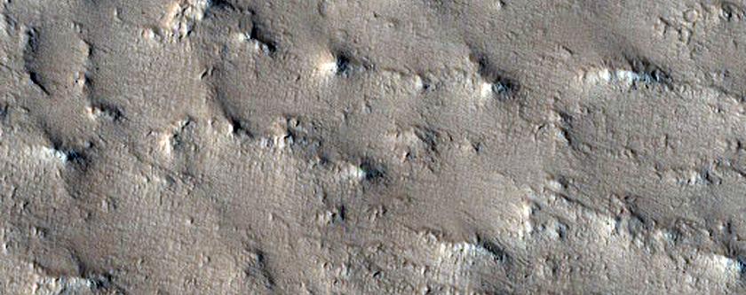 Context for Northwest Edge of Lycus Sulci Ridged Terrain