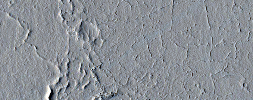 Landforms at the Distal Northeast End of the Marte Valles System