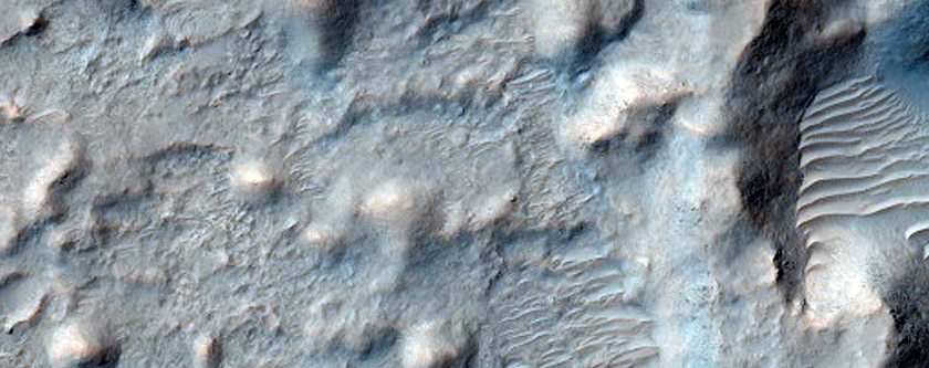 Crater Intersected by a Valley