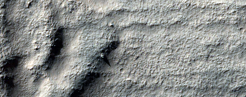 Ejecta Blanket of an Impact Crater