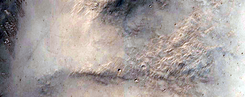 Intersection of Valley with Crater Interior