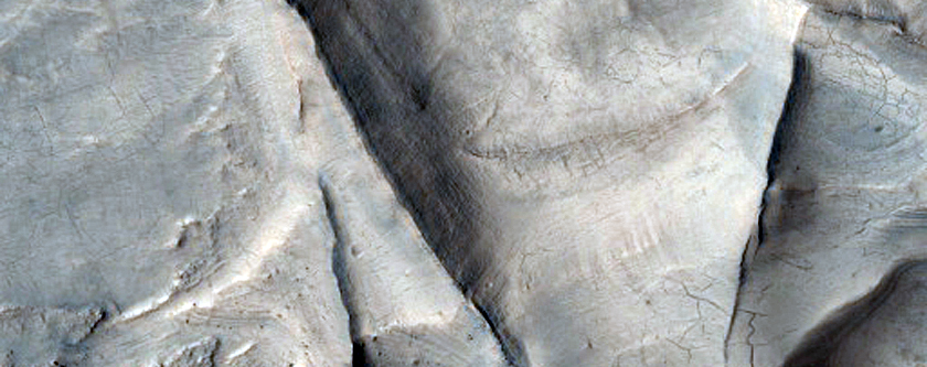 Colorful Mesas and Ridges in Huo Hsing Vallis