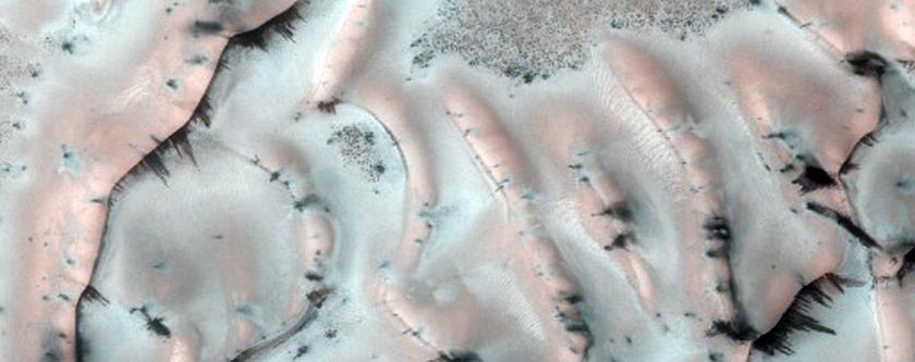 Translucent Ice in the North Polar Region