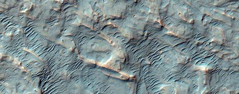 Alluvial Fan Apex in Saheki Crater