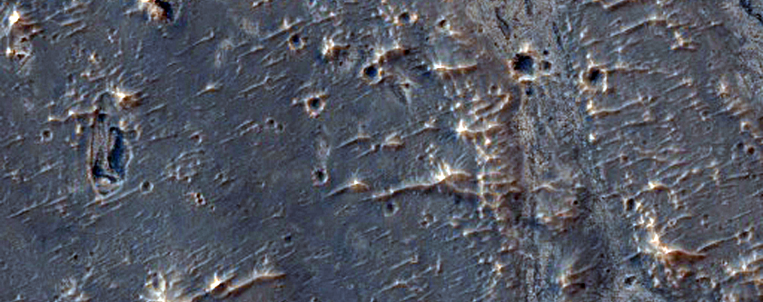Light-Toned Rock Outcrops in Northeastern Sinus Meridiani