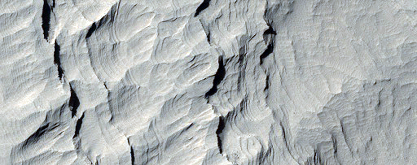 Area Near Summit of Gale Crater Mound
