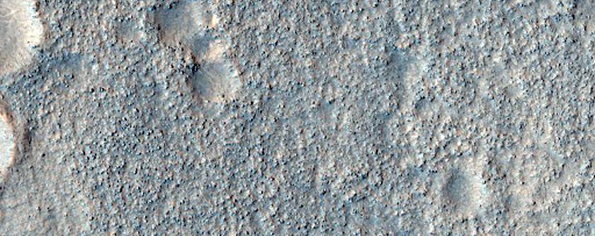 Semeykin Crater and Neighboring Terrain