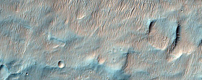 Proposed MSL Landing Site in Holden Crater