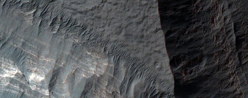 Layers at Margin of Hellas Impact Basin