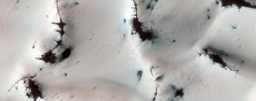 Frost Deposits in Dunes