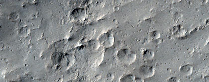 Flow Lobe of Young 60-Kilometer Diameter Crater