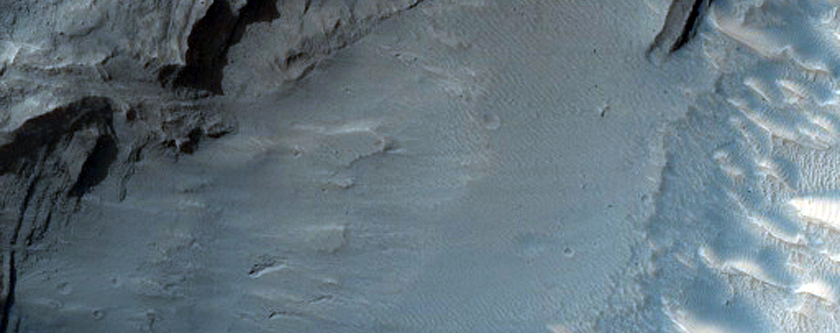 Layered Outcrop in Gale Crater