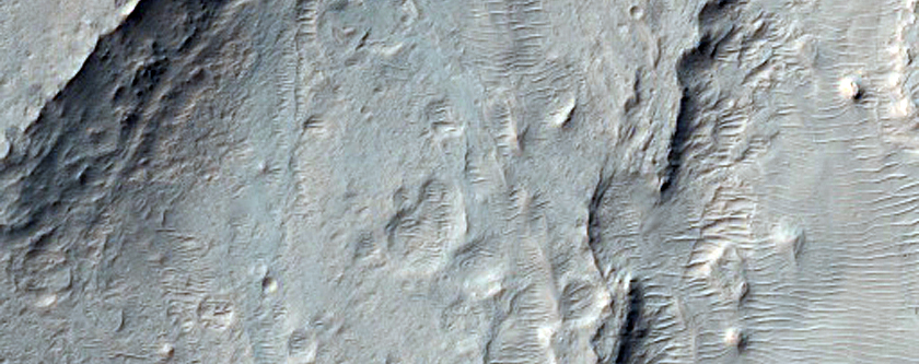 Dune Interaction with Topography in Ganges Chasma
