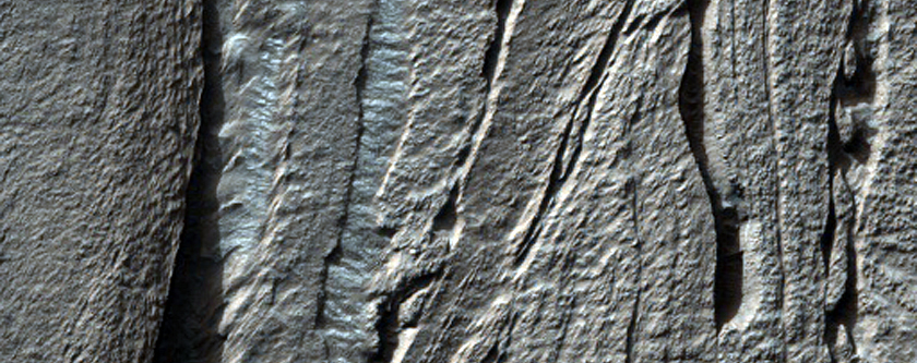 Banded Flow Terrain in Hellas Basin