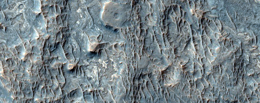 Inverted Streams West of Juventae Chasma