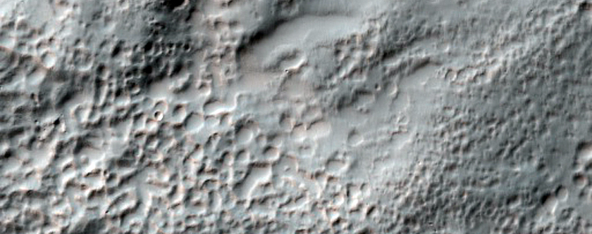 Overlapping Flows in Ejecta from Hale Crater
