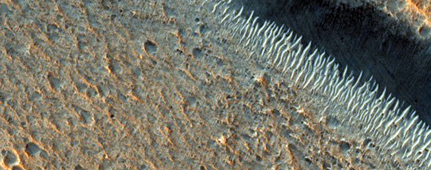 Craters and Pit Crater Chains in Chryse Planitia
