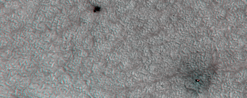 Anaglyph of the Phoenix Landing Site