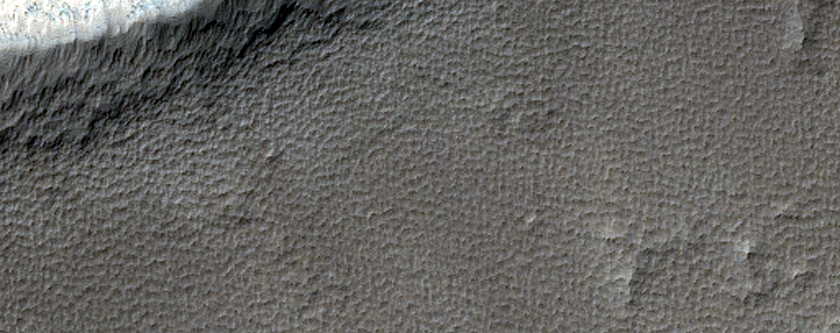 Pit in Southeastern Syria Planum