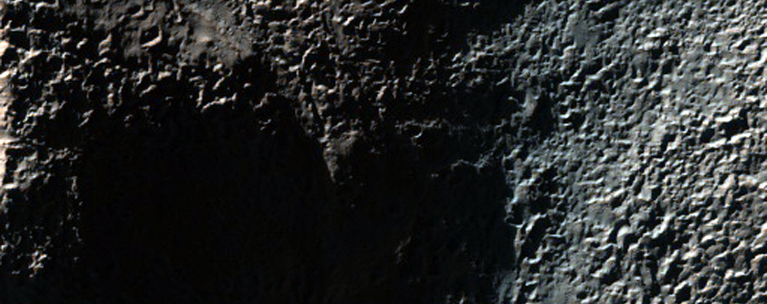 Layers and Possible Wrinkle Ridge