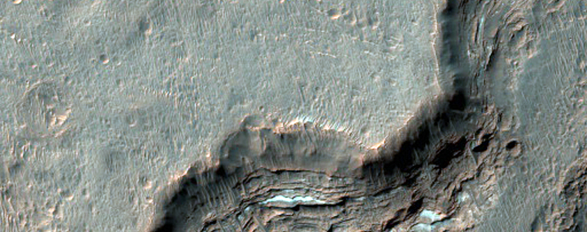 Layers Exposed Near the Mouth of Ladon Valles