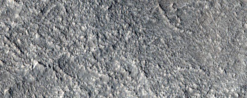Interface between Amazonis and Arcadia Planitiae
