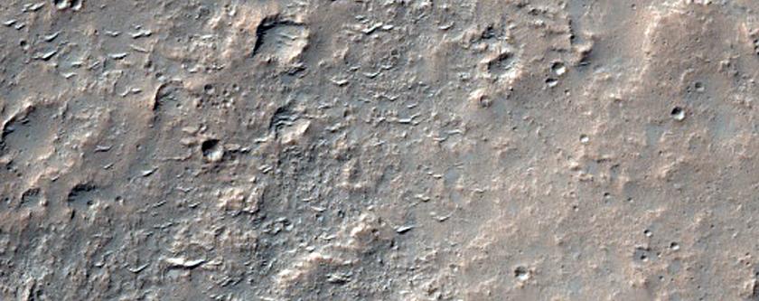 Hesperia Planum Upland Boundary Area