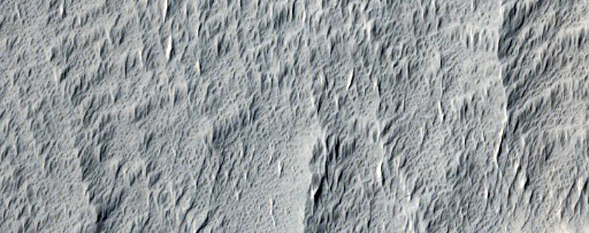 Terrain Near Amazonis Mensa and Medusae Fossae