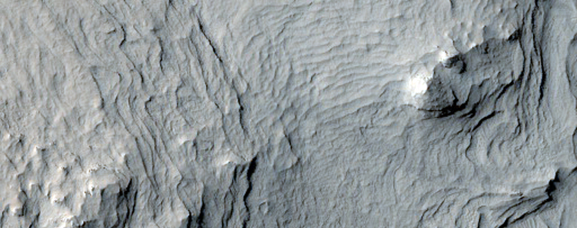 Layers in Central Mound of Henry Crater.