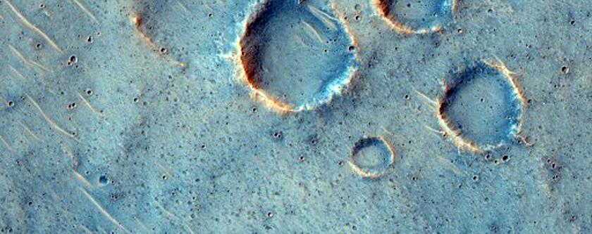 Rayed Craters in Elysium Planitia