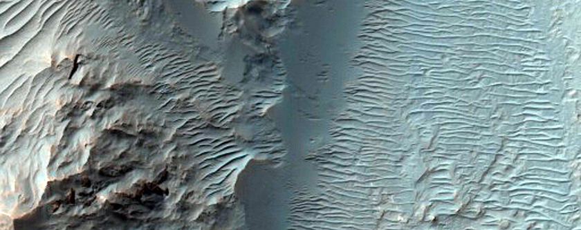 Light-Toned Outcrops on Hillsides