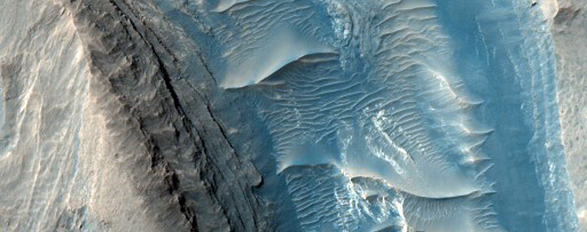 Gale Crater Filled Channel and Fan Deposit
