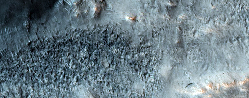 Flow Ejecta of Bonestell Crater