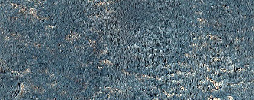 Pianure e terreni con materiale chiaro nella Meridiani Planum