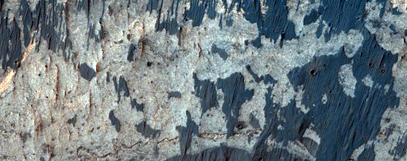 Dune Formation and Bedrock Interaction in Ius Chasma