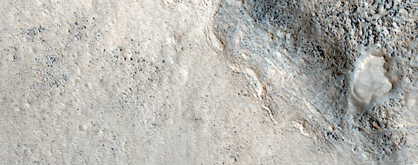 Central Peak of Crater along Dichotomy Boundary in Mareotis Fossae Region