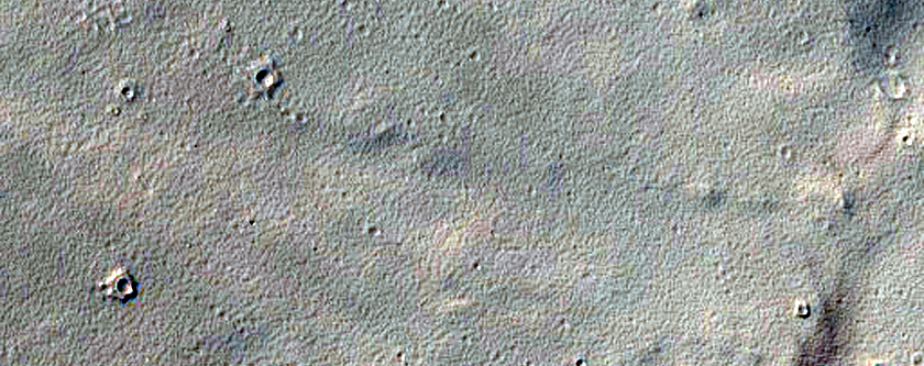 Possible Stepped Delta in Crater