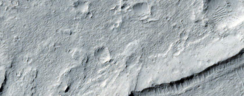 Medusae Fossae Formation and Cratered Cemented Dunes