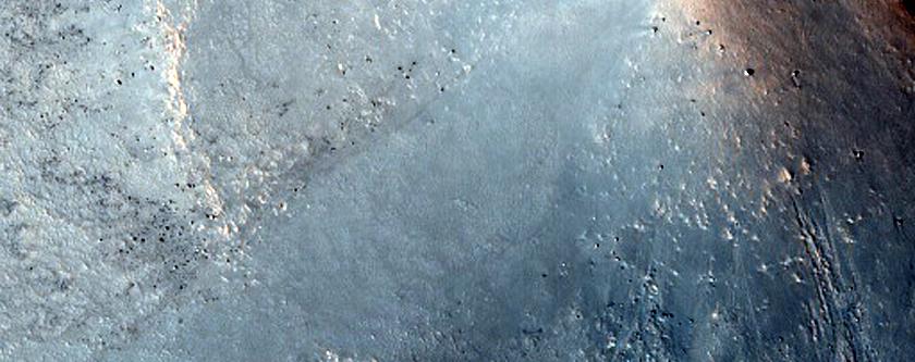 Cones at Edge of North Polar Layered Deposits