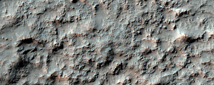 Rim of Elongated Crater