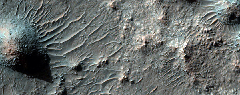 Sample of Dark Area in Crater in Viking 1 Image 650A22